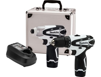 $266 off Makita LCT209W 12V Max Lithium-Ion Cordless Combo Kit