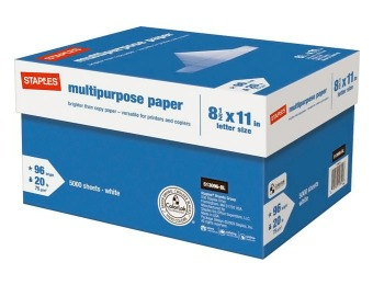 "72% off Staples Multipurpose Paper, 8 1/2"" x 11"", Case"