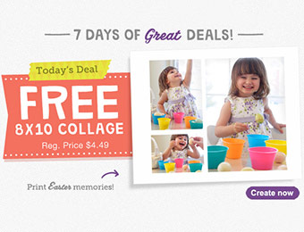 "Free 8""x10"" Collage Photo Print w/ code MULTIPICFREE"