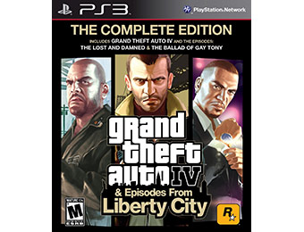 50% off Grand Theft Auto IV: Complete Edition (PS3)