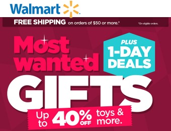 Up to 40% off Most Wanted Gifts + 1 Day Deals