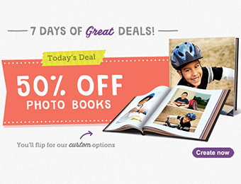 50% off Photo Books w/ Walgreens promo code FIFTYOFFBK