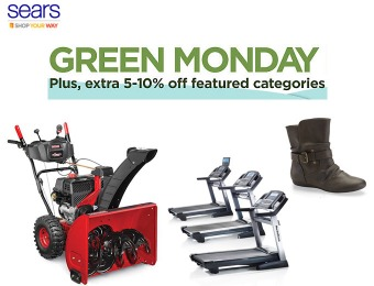 Green Monday Sale at Sears.com + Extra 5-10% off