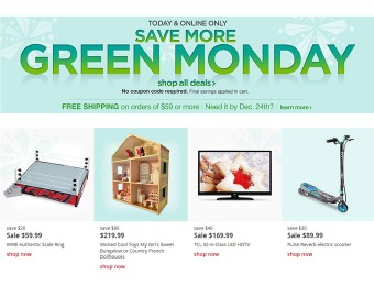 Green Monday Deal Day at Kmart.com