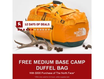 Free Base Camp Duffel Bag with $500 The North Face Purchase