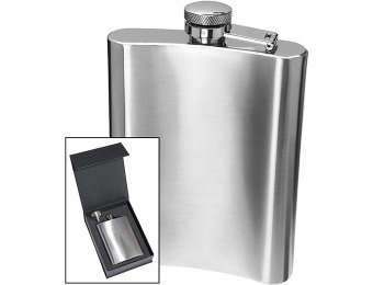 54% off Oggi 18/8 Stainless Steel Hip Flask - Silver (8 oz)