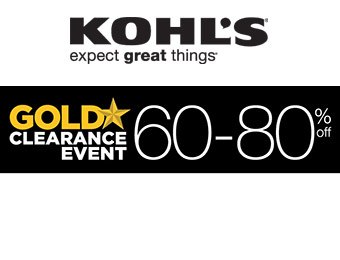 Kohl's Gold Clearance Event - 60-80% Off!