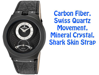 89% Off Croton CN307155BSBK Swiss Stainless Carbon Fiber Watch
