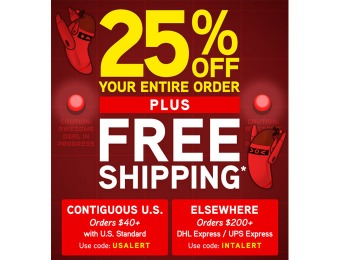Save 25% off Your Entire Purchase at ThinkGeek + Free Shipping*