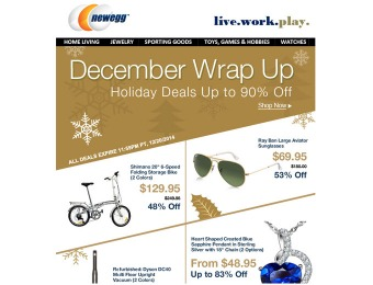 Newegg December Holiday Sale - Up to 90% off