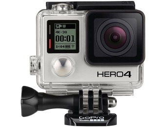 $140 off GoPro Hero 4 Black Edition Camcorder (CHDHX-401)