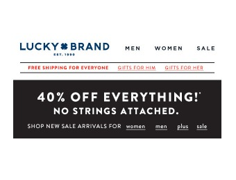 Lucky Brand Sale - Save 40% off Everything