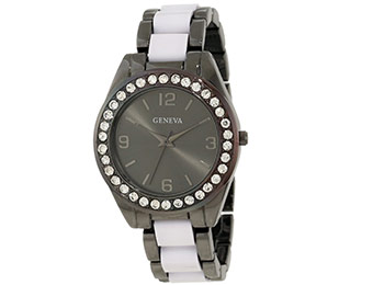 88% off Geneva Moderate Women's Multi-Bezel Bracelet Watch