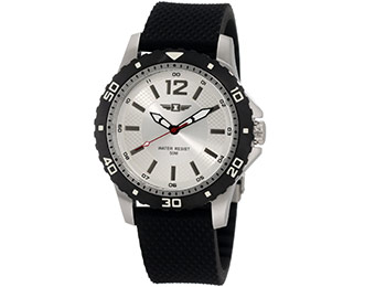 86% off I By Invicta Men's Silver Dial Black Textured Watch