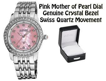 93% Off August Steiner AS8045PK Diamond Swiss Watch