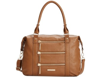78% off Rampage Triple Zip Satchel - Black, Cognac or Teal