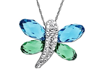 81% off Swarovski Crystal Dragonfly Pendant w/ code DAILYDEAL