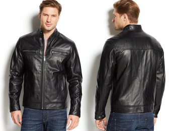 $375 off Michael Michael Kors Men's Leather Moto Jacket