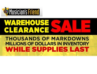 Musician's Friend Warehouse Sale - Up to 92% off