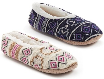78% off Sonoma life + style Fairisle Ballet Women's Slippers, 3 Colors