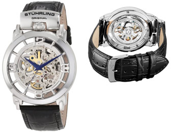 79% Off Stuhrling Original 165F.33152 Skeleton Watch