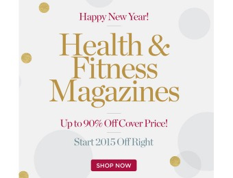 DiscountMags 2015 Sale - Up to 90% off Health & Fitness Magazines