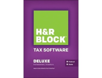 44% off H&R Block Tax Software Deluxe + State 2014