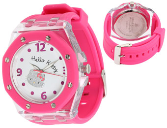 76% Off Hello Kitty HWL1377PNK Pink Glitter Face Watch