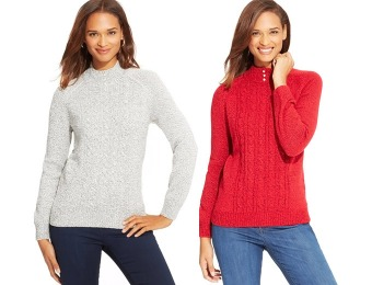 85% off Karen Scott Petite Marled Mock-Turtleneck Sweater, 4 Colors