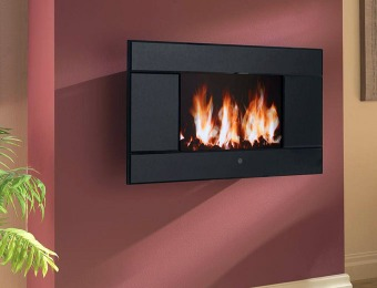 $600 off Pleasant Hearth Evoke Wall-Mount LCD Electric Fireplace