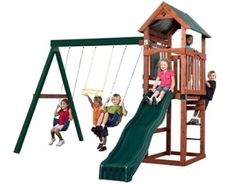 $300 off Swing-N-SlideSpinnaker Wood Complete Play Set