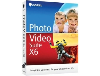 77% off Corel Photo Video Suite X6, PC DVD