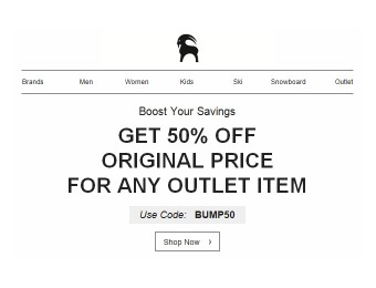 Take an Extra 50% off Any Regular Priced Item at Backcountry Outlet