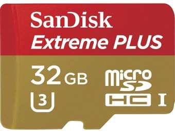 $68 off 32GB SanDisk Extreme PLUS microSDHC Memory Card