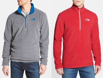 50% off The North Face 'TKA 100' Quarter Zip Fleece Pullover