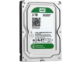$110 off WD Caviar Green 3 TB Desktop Hard Drive + Free Cable
