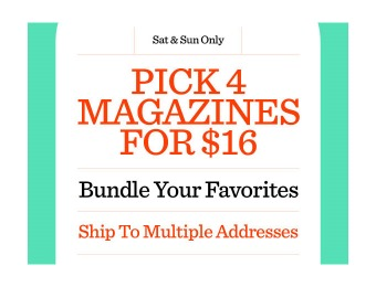 Pick 4 Magazine Subscriptions for $16, 100+ Titles to Choose From