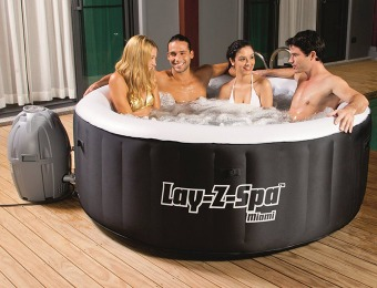 "$100 off Bestway Lay-Z-Spa Miami Inflatable 71"" x 26"" Hot Tub"