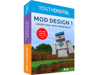 $130 off Mod Design 1: Learn to Code in Java with Minecraft