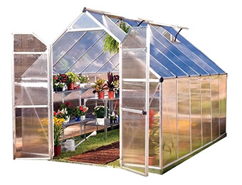 $470 off Palram Essence Silver 8' x 12' Polycarbonate Greenhouse