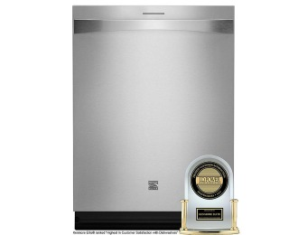 "46% off Kenmore Elite 24"" Built-In Stainless Steel Dishwasher"