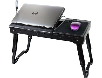 40% off Laptop Table Stand w/ Cooling Fan, USB Ports & LED Light