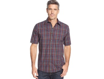 74% off John Ashford Classic Short-Sleeve Mini-Plaid Shirt