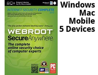 $50 off Webroot SecureAnywhere Internet Security Complete 2013