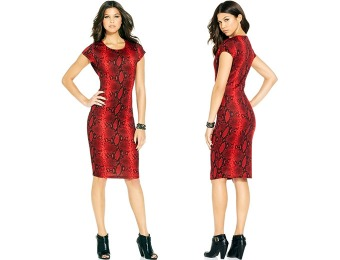 83% off XOXO Juniors' Snakeskin-Print Scuba Dress