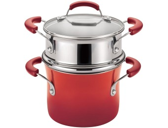 79% off Rachael Ray Hard Enamel 3 Qt Covered Saucepot w/ Steamer