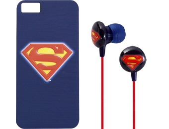 80% off iHip Superman Case for Apple iPhone 5 & Headphones