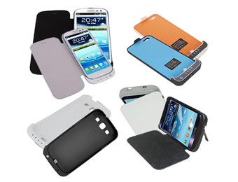 80% Off Rechargeable Battery Cases for iPhone 5, S3, Note 2