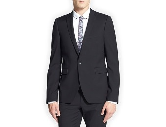 83% off Topman Black Textured Skinny Fit Suit Jacket
