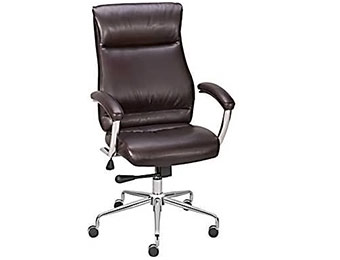 $70 off Staples Strobelle Bonded Leather Mid-Back Chair